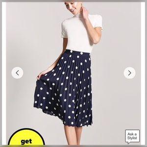 Adorable Pleated Polka Dot Skirt